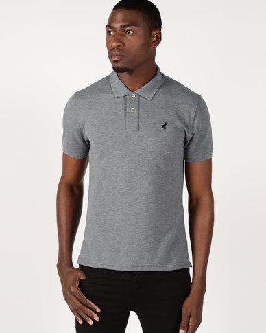 06d2f3af1a517 Polo Stretch Pique Short Sleeve Golfer Grey   Zando