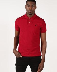 Polo Stretch Pique Short Sleeve Golfer Crimson