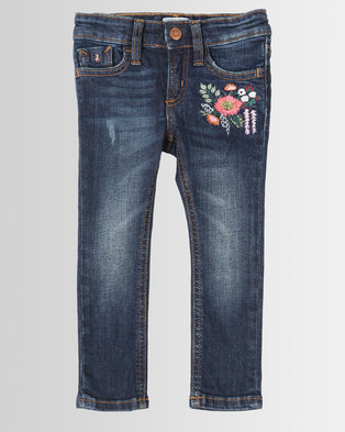 Polo Girls Madison Embroidered Skinny Jeans Medium Wash d2513a694ec7c