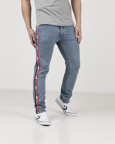 af844221 Levi's ® 501 Taper Sports Stripe Jeans Sport Light Stone | Zando