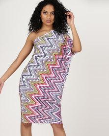 Slick Mira One Shoulder Assymetirc Dress Passion Pinks