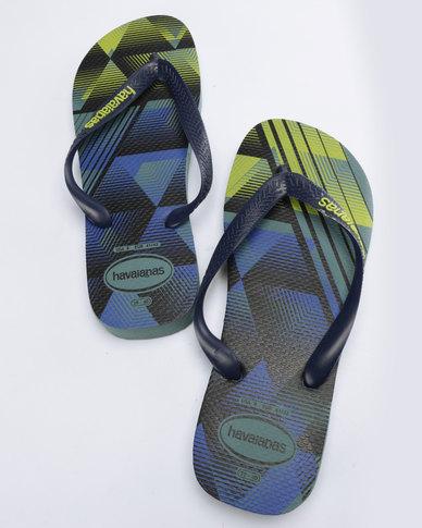 Havaianas Trend Flip Flops Mineral Blue