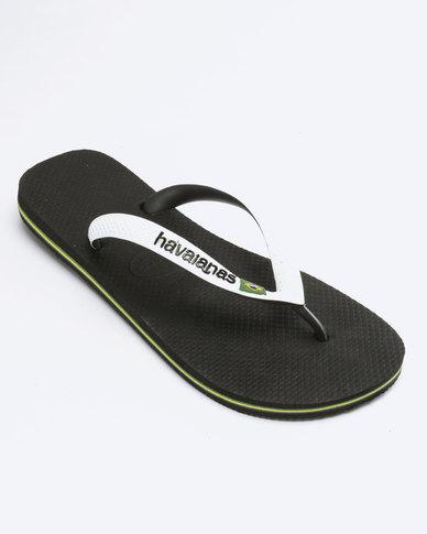 3179960bd6a09 Havaianas Brazil Mix Flip Flops Black White