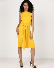 Utopia Tie Front Dress Sleeveless Daffodil Yellow