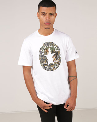 16bc8ac046ce Converse Warped Chuck Patch Tee White