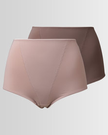 Triumph 2 Pack Support Maxi Panty Beige/Cream