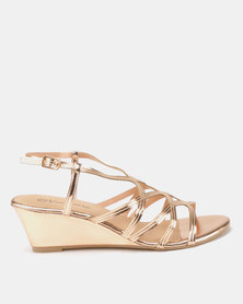 Viameera Metallic Wedges Rose Gold