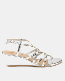 Viameera Metallic Wedges Silver