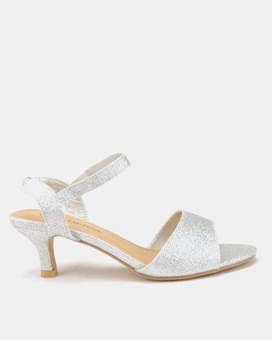 Viameera Shimmer Heels Silver