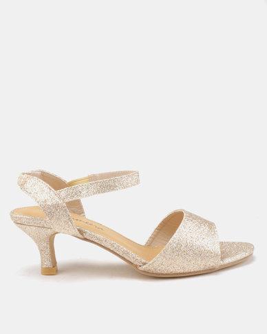 Viameera Shimmer Heels Gold