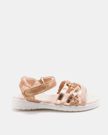 Rock & Co Anick Sandals Rose Gold