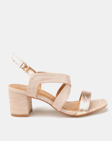 Butterfly Feet Amarah Block Heels Salmon
