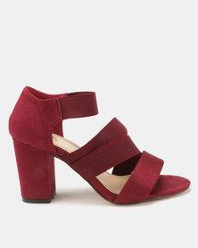 Butterfly Feet Beloved Strappy Block Heel Sandals Red