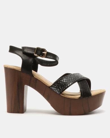 8964780c3c68 Butterfly Feet Ava Platform Heel Sandals Black