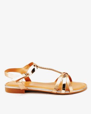 bde493d7f2eeb7 Butterfly Feet Alix Flat Sandals Rose Gold