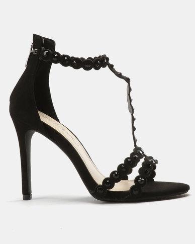 Miss Black Amalie Heeled Sandals Black