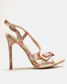 Miss Black Aneka 1 Heeled Sandals Nude