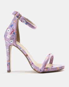 Miss Black Connie Heeled Sandals Lilac