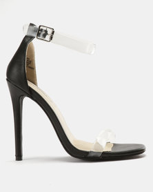 Miss Black Ennis Heeled Sandals Black