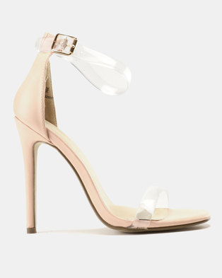 7a13b156d8a Miss Black Ennis Heeled Sandals Pink