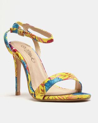 7823c91a9050 Miss Black Giynne Heeled Sandals Yellow