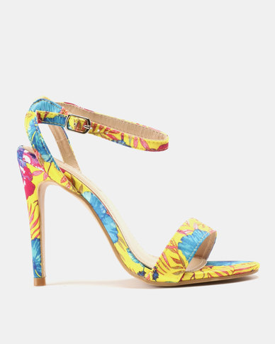 Miss Black Giynne Heeled Sandals Yellow