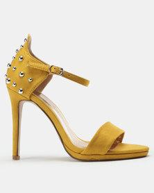 9178af425fa8 Miss Black Lannister Heeled Sandals Mustard