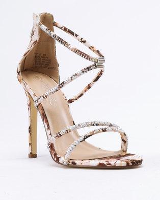828a4f53508f Miss Black Selma Heeled Sandals Beige
