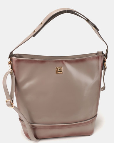 Butterfly Bags Antigona Handbag Grey