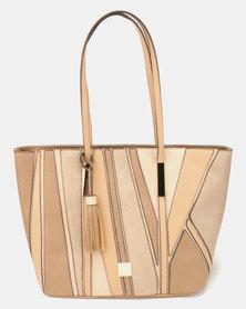 Butterfly Bags Fella Tote Handbag Beige