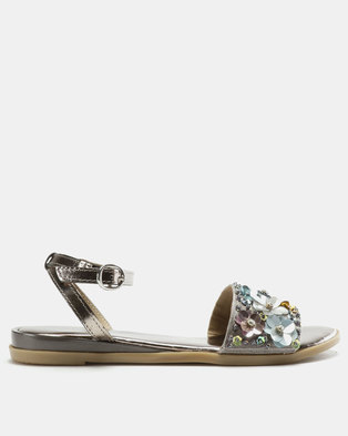 f505436b3c85 GIA by Queue Leather Flower Sandals Multi