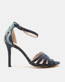 Wild Alice by Queue Slingback High Heel Sandals Denim