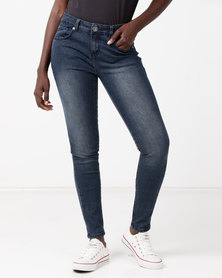 Jeep Spirit Stretch Denim Fashion Slim Leg Jeans Dark Indigo