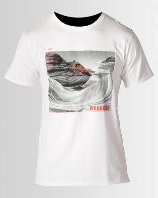 Wrangler Valley Of Fire T Shirt White