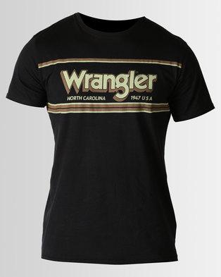 Wrangler Chestin T Shirt Black