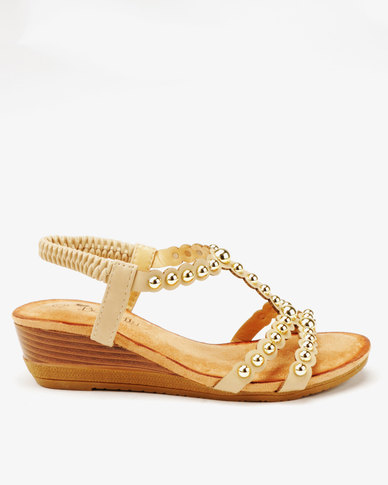 Sandals Wedge Veneta Butterfly Low Studded Feet bf67vyYg