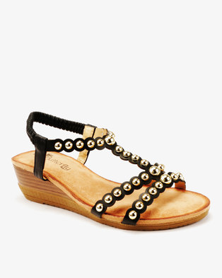 b3ad71310178b Butterfly Feet Veneta Studded Low Wedge .