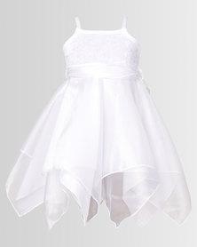 Fairy Shop Organza Hanky Dress White