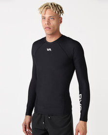 RVCA PERFORMANCE VA Compression Long Sleeve Crew Black