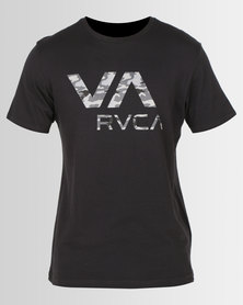 RVCA PERFORMANCE Dark Camo VA Short Sleeve Tee Black