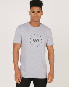 RVCA PERFORMANCE Star Circle Short Sleeve Tee Grey