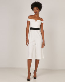 AX Paris Culotte Jumpsuit Cream
