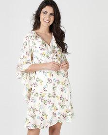 Liquorish Floral Wrap Dress Multi