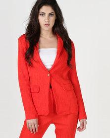 Liquorish Long Sleeves Jacket Red