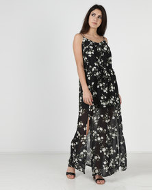 Liquorish Ditsy Floral Print Maxi Cami Dress Multi