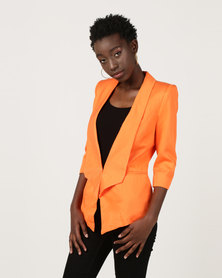 Utopia 3/4 Sleeve Blazer Orange