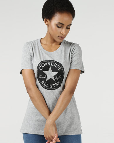 Converse Chuck Patch Crew Tee Vintage Grey Heather