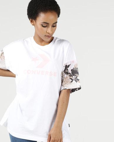 ba8dc7e0880 Converse Linear Floral Graphic Tee White