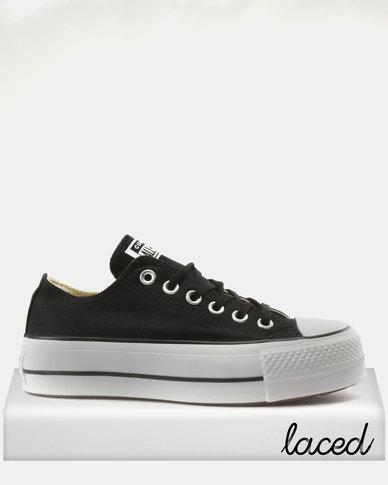 3e78a434392 Converse Chuck Taylor All Stars Lift Ox Sneakers Black/White   Zando