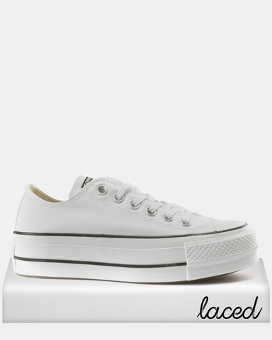 Converse Chuck Taylor All Star Lift Sneakers OX White Black  7a7e75be4cd9d